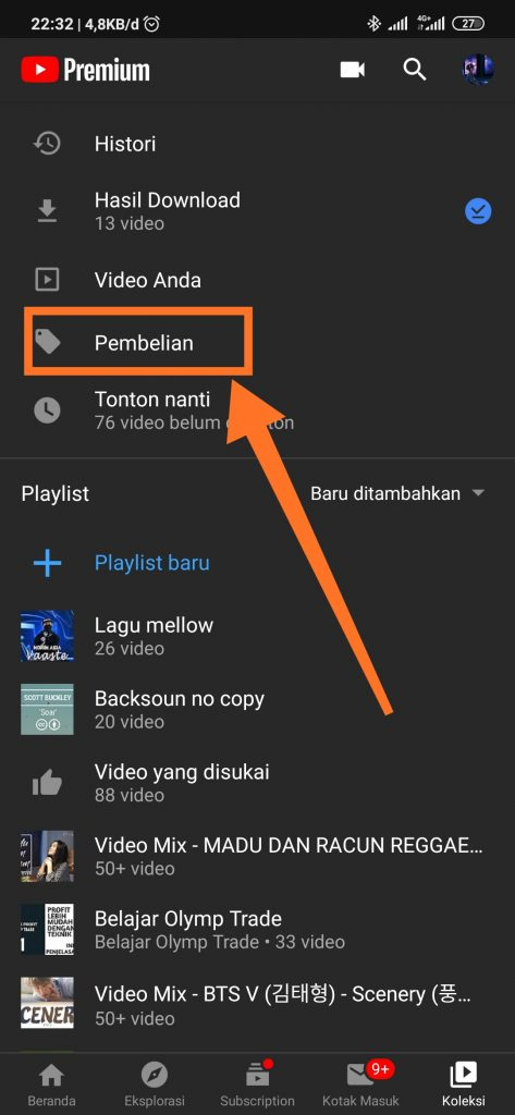 Pembatalan youtube premium