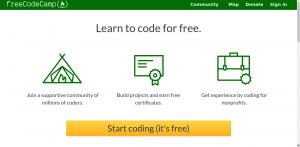 bahasa pemrograman free codecamp