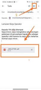cara megirimkan email lewat hp andorid