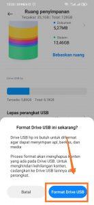 cara format flash disk di hp android