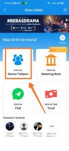 send uang dari dan ke pengguna lain